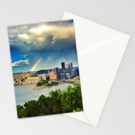 Pittsburgh: Rainbow from Mt. Washington Stationery Cards