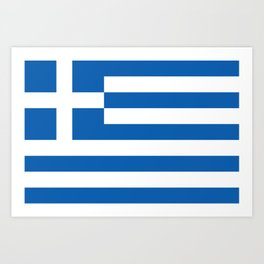 Flag of Greece Art Print