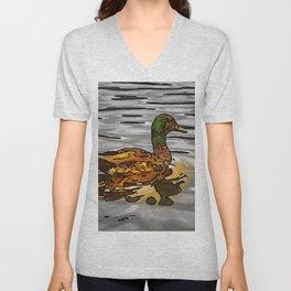 The golden duck. (Painting) Unisex V-Neck
