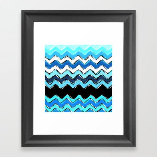 ocean chevron Framed Art Print