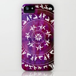 Kama Sutra Mandala Dark Red iPhone Case