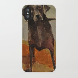 Funny Black Lab iPhone Case