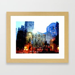 linear city Framed Art Print