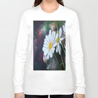 daisies Long Sleeve T-shirts featuring Daisies  by ANoelleJay