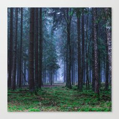 Green Magic Forest Canvas Print