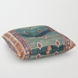 Sivas Antique Turkish Niche Kilim Print Floor Pillow