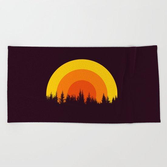 summer mountain Beach Towel