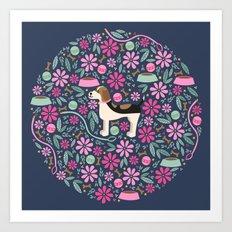 Beautiful Beagle Art Print