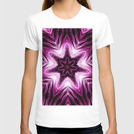 Bright Dark Violet Wine Red Abstract Blossom #purple #kaleidoscope T-shirt