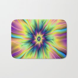 Combustion in Yellow Turquoise and Blue Bath Mat