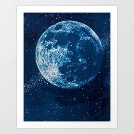 Big Blue Moon Art Print