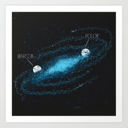 Playing Games in the Milky Way Art Print