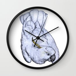 Curious Cockatoo Wall Clock