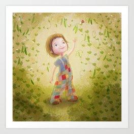 Fresh Peas Art Print
