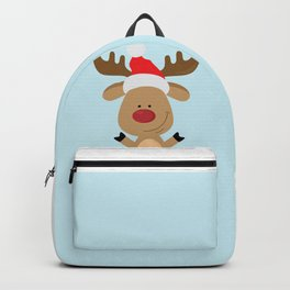 Dancing Rudolph Red Nosed Reindeer Merry Christmas Backpack
