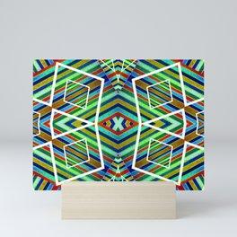 Colorful Geometric Tribal Abstract Pattern Style  Mini Art Print