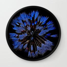 Dew On Dandelion, Wild Mandala Wall Clock