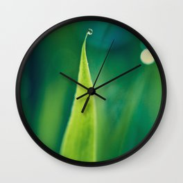 grass and bokeh Wall Clock