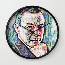 Sergei Rachmaninoff (Serghei Rahmaninov) in 1921 (digitized photography) Wall Clock