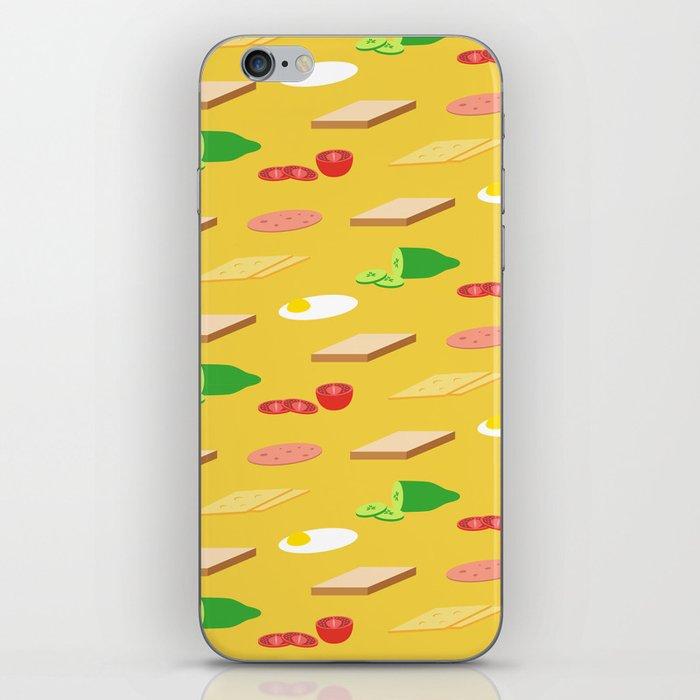 Breakfast Pattern iPhone Skin