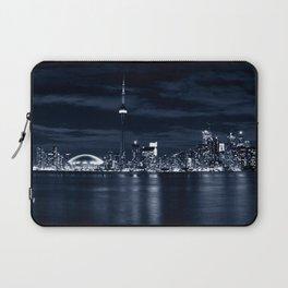 Toronto Skyline, Blue Laptop Sleeve