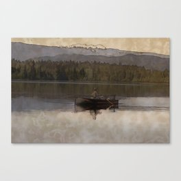 Fishing in Silence Canvas Print