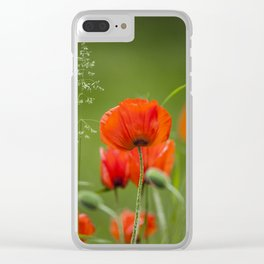 Peony Fire Clear iPhone Case