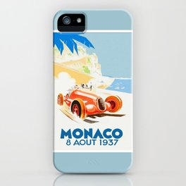 Grand Prix Monaco 1937 iPhone Case