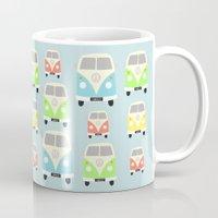 vans Mugs featuring Camper Vans by Laura Maria Designs