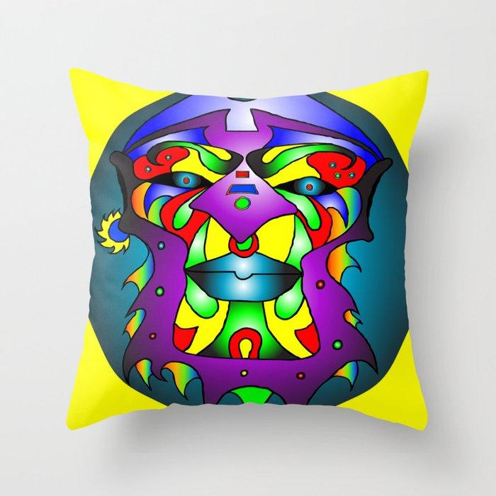 Ashanti - Yellow Throw Pillow