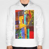buildings Hoodies featuring SkyRainbow Buildings by SkyJay