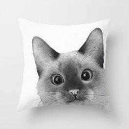 Siamese sneak-a-peek Throw Pillow