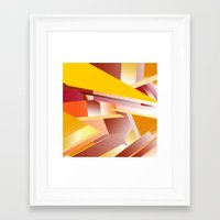 orange pattern Framed Art Prints featuring Orange pattern by sladja