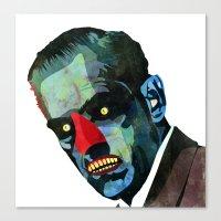 horror Canvas Prints featuring horror by Alvaro Tapia Hidalgo