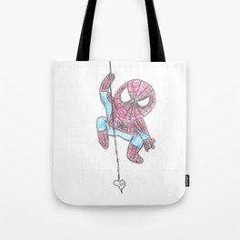 Spider Guy love web Tote Bag