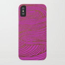 Wind Hot Pink Gold iPhone Case