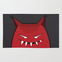 Evil Monster With Pointy Ears Rug