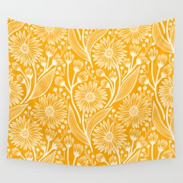 Saffron Coneflowers Wall Tapestry