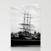 pirate ship Stationery Cards featuring Pirate Ship by Madeline Bailey