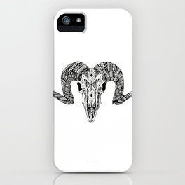 ARIES SKULL iPhone Case