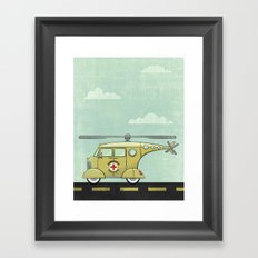 Atomic County Search and Rescue Framed Art Print