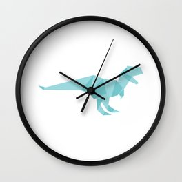 Japanese Paper Folds Art Craft Gifts Dino Origami Funny Dinosaur T Rex Wall Clock