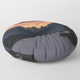 Rising Sun in the Cascades - nature photography Floor Pillow