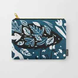 Hedgehog - Dark Petrol Blue Palette Carry-All Pouch