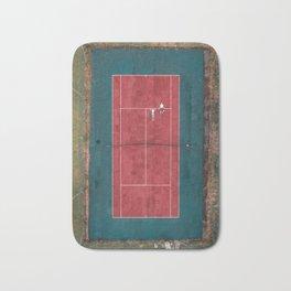 Tennis court, view of drone Bath Mat