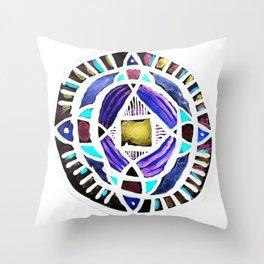 Four Season Life Mandala Throw Pillow