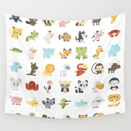 CUTE BABY ANIMAL PATTERN Wall Tapestry