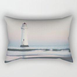 New Brighton Lighthouse at sunrise Rectangular Pillow