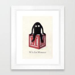 M is for Monster Framed Art Print