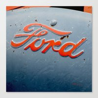 ford Canvas Prints featuring FORD by TMCdesigns